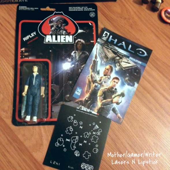 loot crate sept 2014 Funko Alien Ripley ReAction Figure, Retro Arcade Magnet,