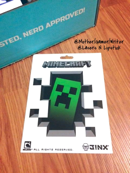 Minecraft Sticker nerd Block June 2014