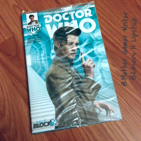 nerd block august 2014 eleventh doctor who  comic book