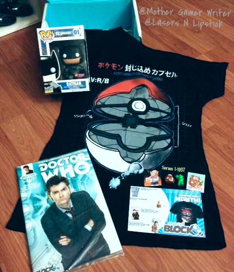 nerd block august 2014 all items unboxed