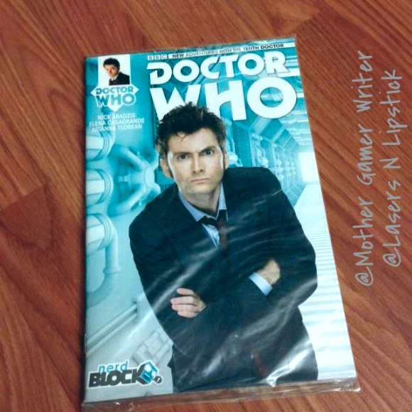 Nerd block august 2014 tenth doctor-doctor who comic