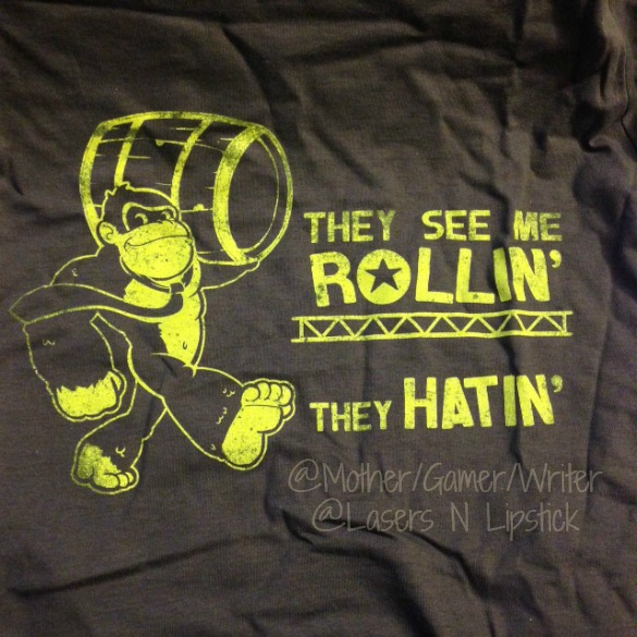 Arcade Block January 2015 Donkey Kong Shirt Close up