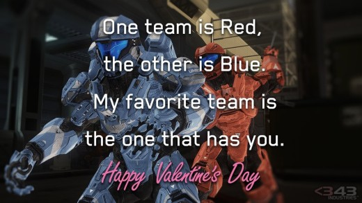 Halo Valentines Card
