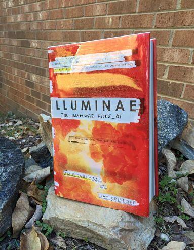 Illuminae (The Illuminae Files #1) by Amie Kaufman and Jay Kristoff book cover on rocks-