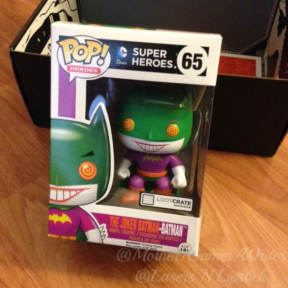 Loot Crate December 2014 Joker and Batman POP funko toy
