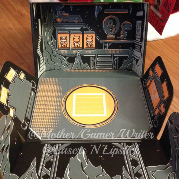 Loot Crate December 2014 inside the box - batcave