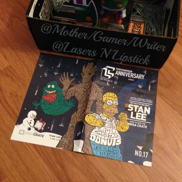 Loot Crate December 2014  magazine