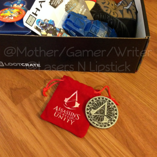 Loot Crate Unboxing November 2014  assassins creed coin.png