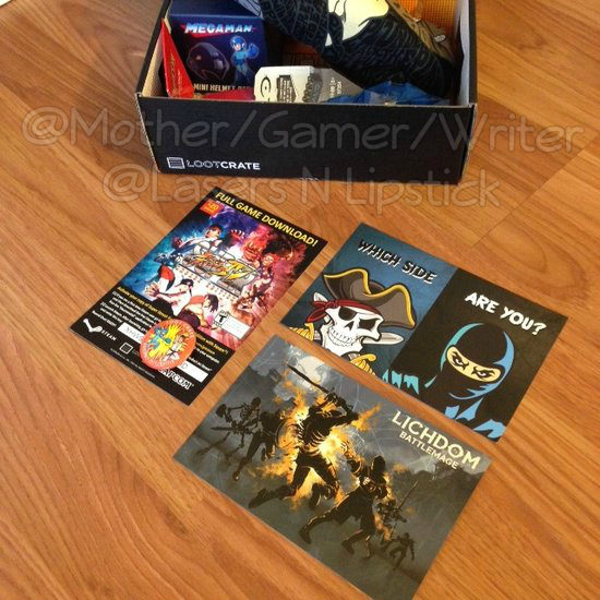 Loot Crate Unboxing November 2014  game codes and downloads.png