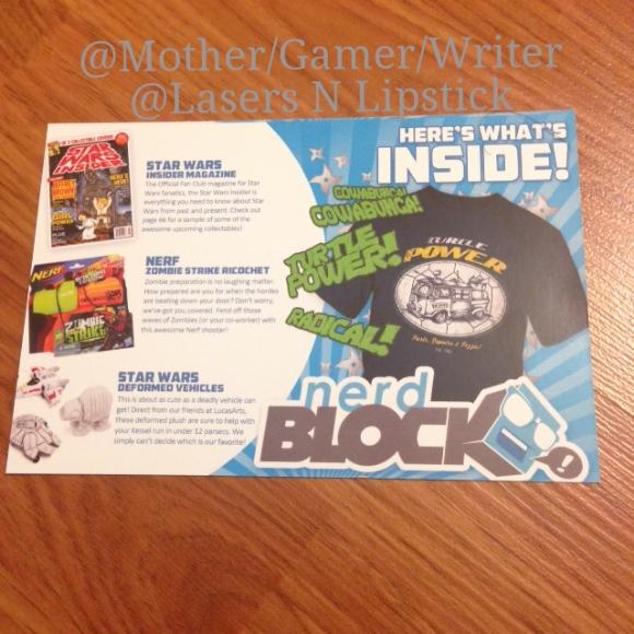 Nerd block July 2014 Card