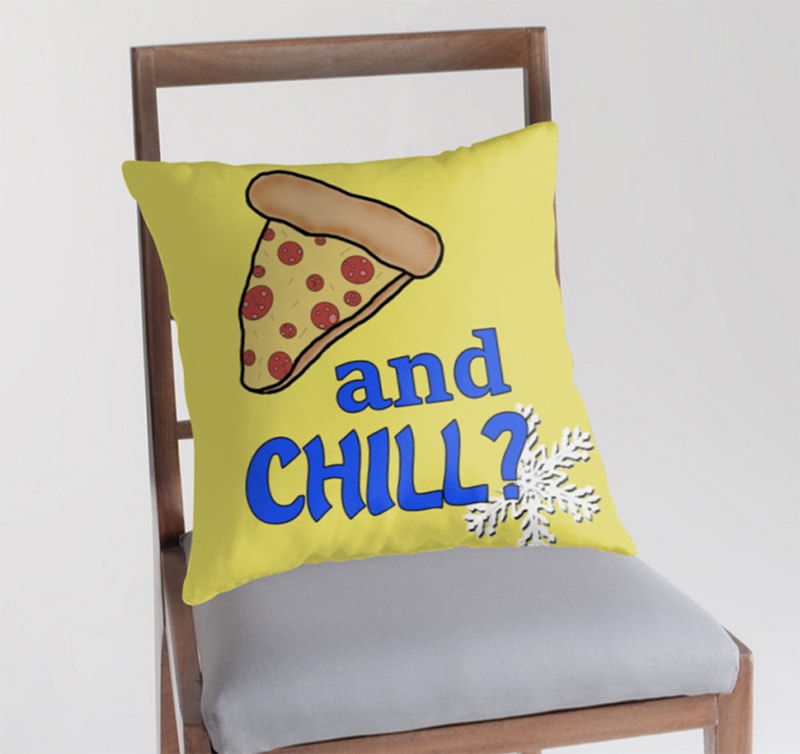pizza and chill pillow