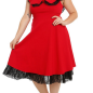 RED & BLACK LACE DRESS PLUS SIZE