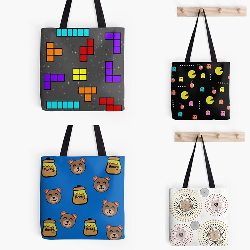 redbubble tote bags