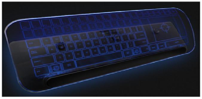 The Luminae glass keyboard by TransluSense
