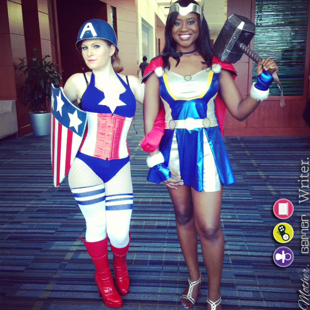 Thor and captain america cosplay