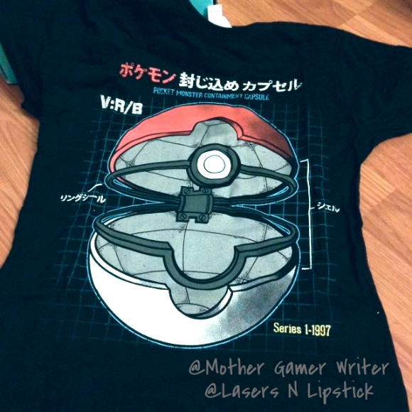 nerd block august 2014 pokemon t-shirt