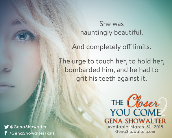 gena showalter the closer you come exclusive promo pic