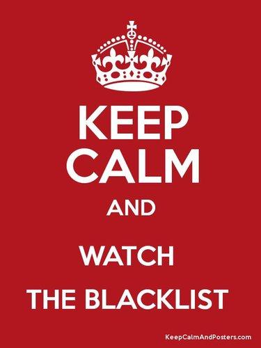keep calm blacklist poster