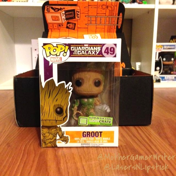 loot crate august 2014 groot pop figure
