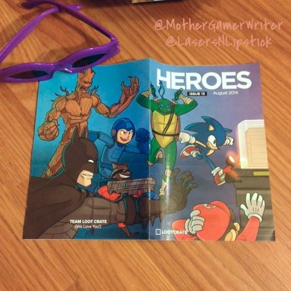 loot crate august 2014 heroes booklet