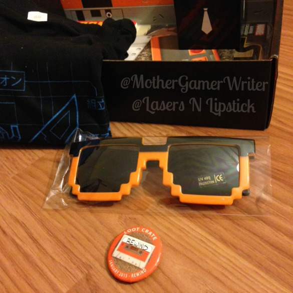 loot crate jan 2015 - 8 bit sunglasses