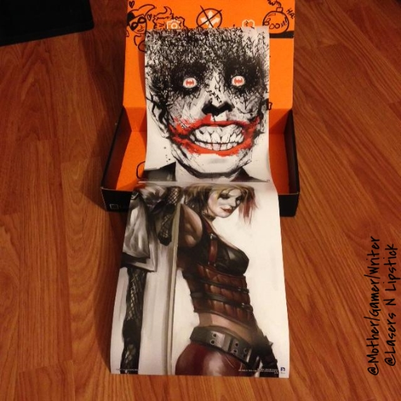 loot crate july harley quinn and joker poster