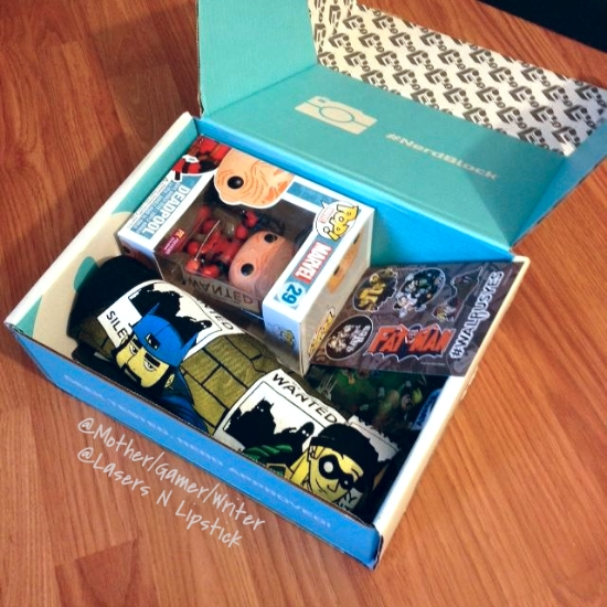 nerd block october 2014 open box
