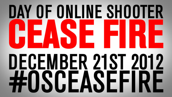 #OSCeaseFire – A DAY OF CEASE FIRE on December 21, 2012: I Pledge…Do You?
