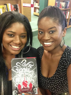 Jennifer and Diayll at the Fierce Reads Book Tour