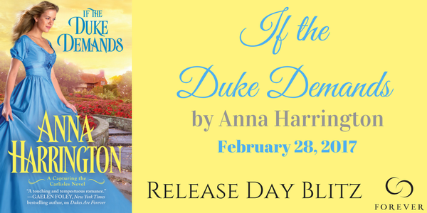 Happy Release Day & #Giveaway | If the Duke Demands by Anna Harrington