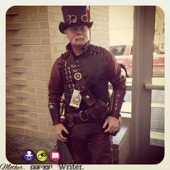 the steampunk guy cosplay
