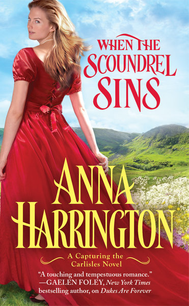 WHEN THE SCOUNDREL SINS by Anna Harrington book cover